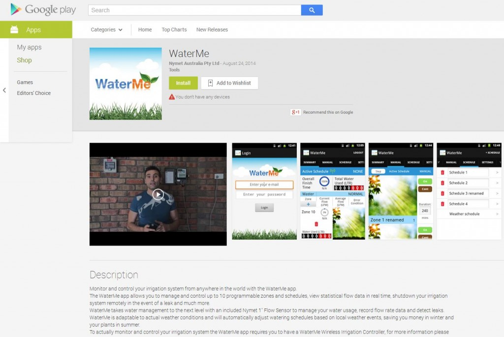 WaterMe on Google Play